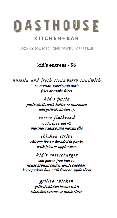 kids menu-winter
