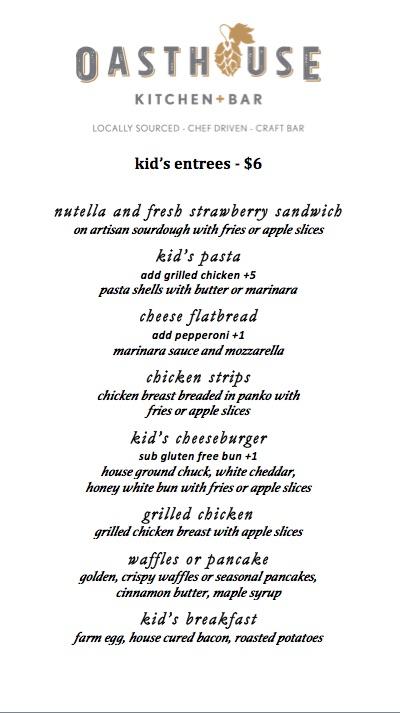 Oasthouse Kitchen + Bar Austin | Menu